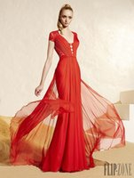 Cheap 2015 Chiffon Prom Dresses Best Red Carpet Party Gowns