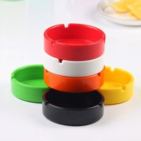 Wholesale Thick round unbreakable Colors Office Car Interior Smokeless Cigarette Melamine Ashtray Holders Cup