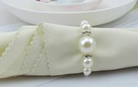 PS - AAA Quality White Pearls Napkin Rings Hotel Wedding party Accessories Table Decorations supplies