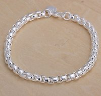 Wholesale Hot sell Jewelry Silver plated bracelet Women s Bracelet and Necklace Jewelry Silver Charms Pendants Links Chain Mix Styles Orders