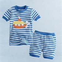 baby girl sets of clothes - Summer new baby clothes and girls short sets three kinds of color stripes leisure suit girls dresses