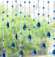 Wholesale 20meters crystal glass beads strands door curtain crystal bead curtain shade curtain new porch hang curtain