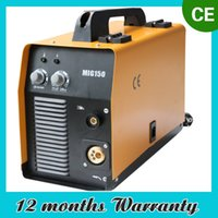 Wholesale MIG150 AMP DUAL GAS NO GAS GASLESS MIG MAG DC INVERTER Welder Machine Welding Flux Core Flux Wire Auto Feed