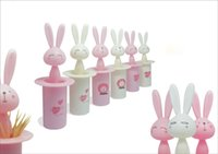 Wholesale 2015 The New Listing of The Most Fashionable Fiery Creative Lovely Rabbit Toothpick Holder Dispenser Toothpick Box