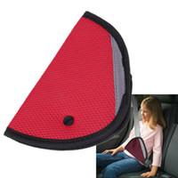 Wholesale 2015 hot Child Car Safety Belt Adjuster Child Resistant Safety Belt Protector Red Beige Baby Car Safety Belt