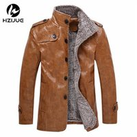 fur coat men - Fall Leather Jackets Men Coats Winter Warm Motorcycle Leather Jacket Men s Fashion Luxury Leather Mens Fur Coat Distressed PU Jacket