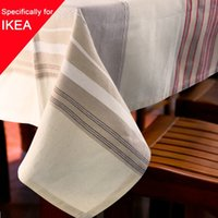 Wholesale Linen Party Table Cloth Striped Square Decor Table Cover Rectangle Rustic Tablecloth For Wedding Decorative Banquet Home Feast