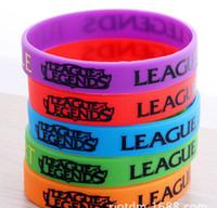band cuff - Silicone Bracelets LOL League of Legends Game Creeper Sport wristband cuff accessories Creeper Wrist Band Color Bracelets