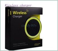 Wholesale 2015 Newest S6 Qi Wireless Charger Cell phone Mini Charge Pad For Qi abled device Samsung nokia htc LG cellphone with retail package