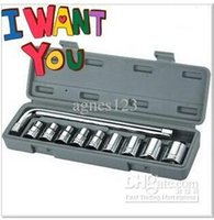 Wholesale 10pcs car and motorcycle manual combination spanner socket wrench