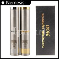 Wholesale Nemesis mod stainless steel mechanical mod battery body mod E cigarette starter kit for EGO electronic cigarette