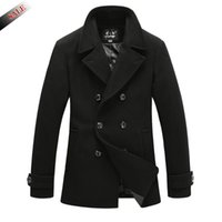 Wholesale 2015 New Men s Winter and Autumn Peacoat Jackets Brand Stylish Outdoors Men Jacket Coats Mens Jacket Windbreaker Men Overcoat