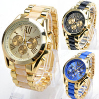 Wholesale Mens Quartz Full Steel Watch Women Luxury Mechanical Automatic Watches Casual Dress Ladies Wrist Watch Golden Dial Alloy Watch SV007531