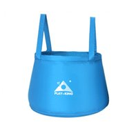 Wholesale Hot New Arrival Folding Wash basin Bucket Travel Bag Yellow L Outdoor Camping Bag Fashing Bag