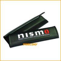 Wholesale 4pcs Carbon Fiber Texture Seat Belt Cover Shoulder Pads for Nismo