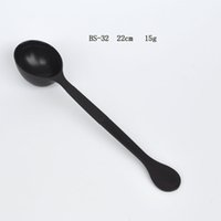 Wholesale BS normal coffee spoon coffee powder amount scoop fruit powder quantity Black plastic a pack of ladles