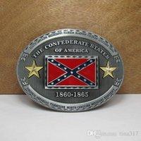 Wholesale American Confederate Rebel Flag Belt Buckles Belts Accessories