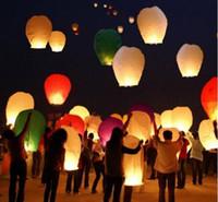 achat en gros de coeur souhait chinois-2015 Lanternes chaudes de ciel de coeur de vente, souhaitant la lanterne de feu de lanterne Lanterne chinoise de Kongming souhaitant l'éclairage extérieur de lampe Livraison gratuite