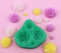 fondant roses - New Arrive rose flower Silicone fondant mold Bakeware Decorating Gum Paste Clay Mold