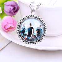 angels cast - 2015 Collier Sautoir Long Furious Pendant Necklaces Gift Hot European And American Original Cast Head Necklace High Quality Factory Direct