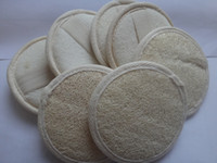 Wholesale inch cm Natural Facial Loofah Loofa Bath Spa Sponge Bath Brushes loofah pad