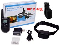 Wholesale 10pcs dog M Rechargeable and Waterproof Remote LV Shock Pet Dog Training Bark Stop Collar with LCD Display