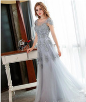 best summer shows - 2016 Best Sales Vintage and Elegant Evening Dresses with Applique Flower and Tulle Design Runway Show Party Gowns