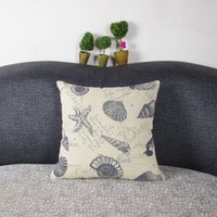 Wholesale Simple Fashion linen Throw Pillow Cases Home Decorative Cushion Cover Square
