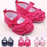 beauty stuff - Cotton Fabric Baby Stuff Baby Girls Shoes Toddler Shoes Beauty Lace First Walker Small Dots Shoes For Girls Months S2144