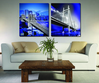 big print newspaper - 2 Pieces Home decoration Paint on Canvas Prints Brooklyn Bridge Big Ben Telephone booth newspaper taxi Islamic building city