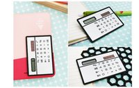 Wholesale Solar card calculator ultra thin mini calculator Color silver black