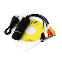 Wholesale EASIER CAP Usb Video Capture Card DC60 Easycap for TV DVD VHS AV USB Easier Cap Adapter Support XP Vista Pentium