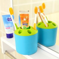 Wholesale Creative porous toothpaste tooth brush holder couples mouthwash Multi functional desktop pen container shelf