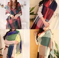 fashion scarf - 2015 Fashion Lady Check Scarves Women Winter Scarf Shawl Ladies Lattice scarf Girls grid Scarf Muffler Neckerchief Designs D3365