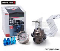 Wholesale TANSKY High Quality TOMEI Adjustable Fuel Pressure Regulator FPR Type L UNIVERSAL JDM Turbo With White gauge TK TOMEI BWH