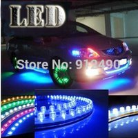 Cheap Super Bright 2 x 20 Daytime Running Light White 48 LED Strip Driving DRL Car Fog Parking Signal Light Lamp Styling Free shipping