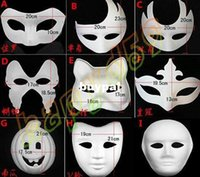 paper mask - High quality DIY mask hand painted Halloween white face mask Zorro crown butterfly blank paper mask masquerade pcsA1A