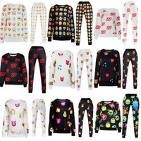 sweat suit - 2015 New Fashion Unisex D Emoji Print Sweatshirts Sweatpant Joggers Pants T Shirts Pullovers Girls Sweat Shirt Trousers Sport Suits