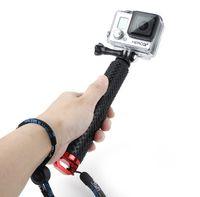 aluminum telescoping poles - Gopro Aluminum selfie Stick Extendable Pole Telescoping Handheld Monopod with Mount Adapter for GoPro Hero SJ4000 Hero4