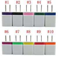 Wholesale Dual USB Wall Charger Home Travel Adapter for iPad iPhone Samsung HTC Sony Mobile Phone Chargers