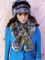 Wholesale XYJJ13 Women Beaver Rabbit Fur Collar Winter Warm Brand Real Fur Scarf