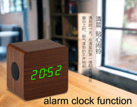 wooden hand display - STW9024 wood wooden bluetooth speakers in multifunction subwoofers Bluetooth with LED clock temperature time display function hands free