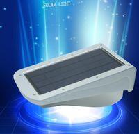 solar lamp - Highlight PIR Solar Power LED W Wall Lamp LED LEDs Lights Wall Light Ray Motion Sound Sensor Light Motion Outdoor Path Garden Yard light
