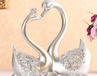 bathroom crafts - Nice design resin craft pair of resin swan lover of swans gift to friends or home decoration