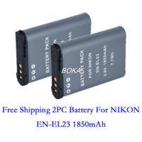 Wholesale PC V mAh EN EL23 EL23 Rechargeble Digital Camera Battery For NIKON CoolPix p600 S810C ENEL23 P900