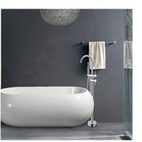 Wholesale And Retail Floor Mounted Luxury Faucet Shower W Hand Sprayer Tub Filler Chrome Brass Tap