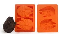 Wholesale 100 set Star Wars Ice Tray Silicone Mold Ice Cube Tray Chocolate Fondant Mold Death Star X Wing Funny Candy Bake Maker