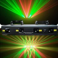 Yellow beam laser systems - 260mw Heads Lens RGY DJ Laser Light Show Beam Scan Professional Stage laser Lighting dj party club wedding laser system