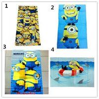 Wholesale 12PCS CM Cartoon new Despicable Me Towels Children Minions Bath Towel Baby Towel Bathroom Beach Towel Kids Cartoon