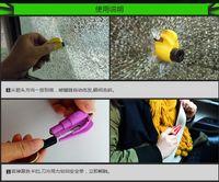 Wholesale Mini car keychain broken windows Safety belt cutter safety hammer escape factory essential artifact